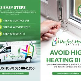 New flyer Perfect Home Windows - Avoid high heating bills #1